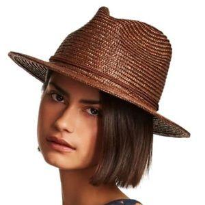 NWT. Brixton Women's Fedora Straw Hat